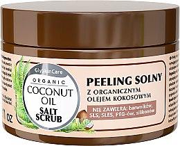 Parfumuri și produse cosmetice Scrub de sare pentru corp cu extract organic de cocos - GlySkinCare Coconut Oil Salt Scrub