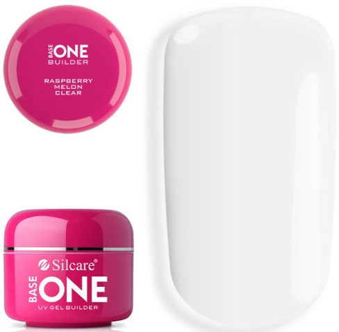 Gel de unghii - Silcare Base One UV Gel Builder Clear Raspberry Melon