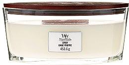 Parfumuri și produse cosmetice Lumânare aromată - Woodwick Hearthwick Flame Ellipse Candle Linen Linge Propre