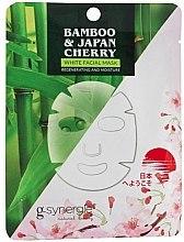 Parfumuri și produse cosmetice Mască de țesut pentru față - G-synergie Bamboo & Cherry White Face Mask