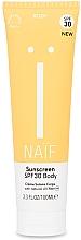 Parfumuri și produse cosmetice Cremă de protecție solară pentru corp - Naif Sunscreen Body Spf30