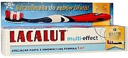 """Parfumuri și produse cosmetice Pastă de dinți """"Multi-Effect"""" - Lacalut (Toothpaste/75ml + periuță de dinți)"""