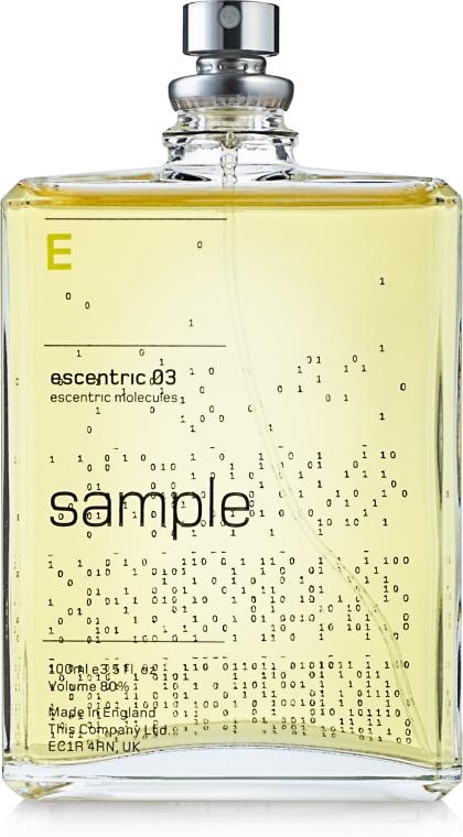 Escentric Molecules Escentric 03 - Apă de toaletă (tester) — Imagine N1