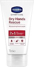 Parfumuri și produse cosmetice Cremă antibacteriană pentru mâini - Vaseline Expert Care Dry Hands Rescue 2in1 Moisturising Hand Cream