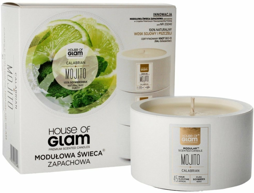Lumânare aromată - House of Glam Calabrian Mojito Candle — Imagine N1