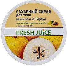 """Parfumuri și produse cosmetice Scrub pentru corp """"Pere asiatice și papaya"""" - Fresh Juice Asian Pear & Papaya"""