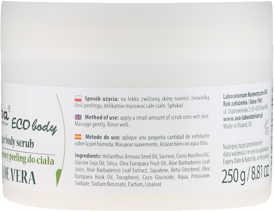 """Scrub pentru corp """"Aloe Vera"""" - Ava Laboratorium Eco Body Natural Sugar Scrub Aloe Vera — Imagine N2"""