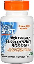 Parfumuri și produse cosmetice Bromelain 3000 GDU, potență ridicată 500 mg, capsule - Doctor's Best