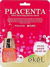 Parfumuri și produse cosmetice Mască de țesut, cu placentă - Ekel Placenta Ultra Hydrating Essence Mask