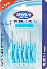 Parfumuri și produse cosmetice Set perii interdentare, 0,6mm, albastră - Beauty Formulas Active Oral Care Interdental Brushes Blue