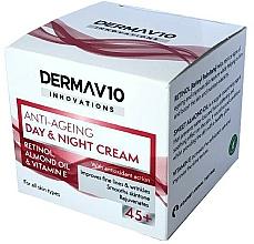 Parfumuri și produse cosmetice Cremă cu retinol - Derma V10 Innovations Anti Ageing Day & Night Cream 45+