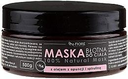 Parfumuri și produse cosmetice Mască din argilă cu spirulină pentru corp - E-Fiore Body Mask With Spirulina, Opuntia Oil And HA Acid