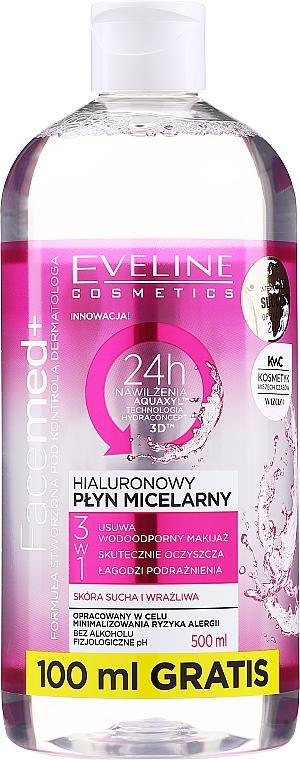 Apă micelară hialuronică - Eveline Cosmetics Facemed+