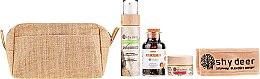 Parfumuri și produse cosmetice Set pentru ten combinat și gras - Shy Deer (mask/50ml + peel/100ml + tea/90g + headband + bag)