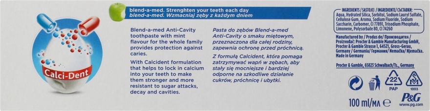"""Pastă de dinți pentru toată familia """"Anti-carii"""" - Blend-a-med Anti-Cavity Family Protect Toothpaste — Imagine N3"""