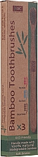 Parfumuri și produse cosmetice Ser periuțe de dinți, din bambus - Xoc Eco Friendly Soft Bristle Toothbrush (3 szt.)