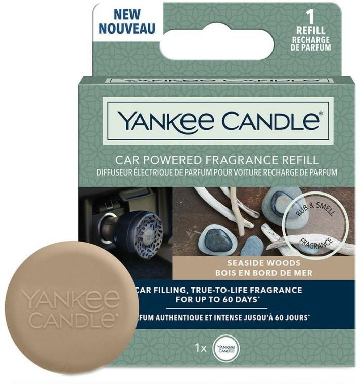 Aromatizator auto (rezervă) - Yankee Candle Car Powered Fragrance Refill Seaside Woods — Imagine N1