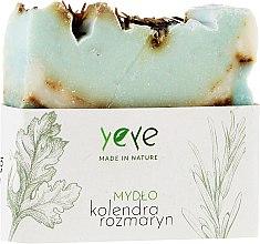 "Parfumuri și produse cosmetice Săpun natural 100% ""Coriandru și rozmarin"" - Yeye Natural Coriander and Rosemary Soap"