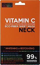 Parfumuri și produse cosmetice Mască-expres pentru gât - Beauty Face IST Whitening & Restorating Neck Mask Vitamin C