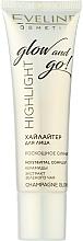 Parfumuri și produse cosmetice Iluminator pentru față - Eveline Cosmetics Highlight Glow And Go