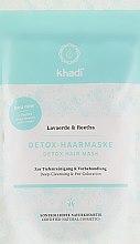Parfumuri și produse cosmetice Mască detox pentru curățarea părului - Khadi Detox Hair Mask