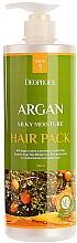 Parfumuri și produse cosmetice Mască cu ulei de argan, extract de henna și peptidă de cupru pentru păr deteriorat - Deoproce Argan Silky Moisture Hair Pack