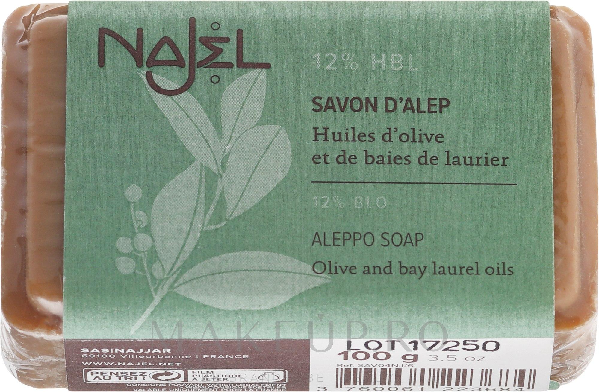 Săpun de Alep 12% ulei de dafin - Najel Savon d'Alep Aleppo Soap By Laurel Oils 12% — Imagine 100 g