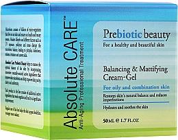 Parfumuri și produse cosmetice Cremă-gel cu efect matifiant - Absolute Care Prebiotic Beauty Balancing&Mattifying Cream-Gel