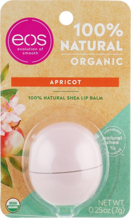 Balsam cu aromă de caise pentru buze - Eos 100% Natural Organic Apricot Lip Balm — Imagine N1