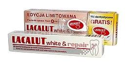 Parfumuri și produse cosmetice Set - Lacalut White & Repair Set (t/paste/75ml+dental/floss)
