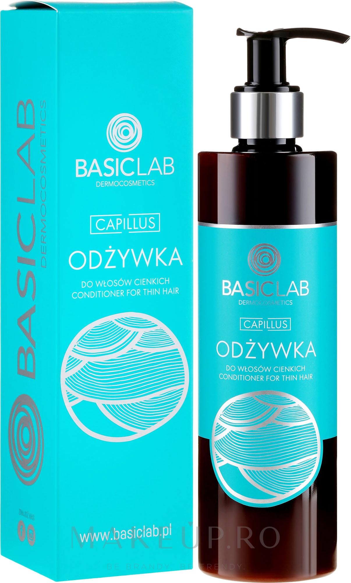 Balsam pentru păr fin - BasicLab Dermocosmetics Capillus — Imagine 300 ml