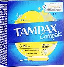 Parfumuri și produse cosmetice Tampoane cu aplicator, 8 bucăți - Tampax Compak Regular