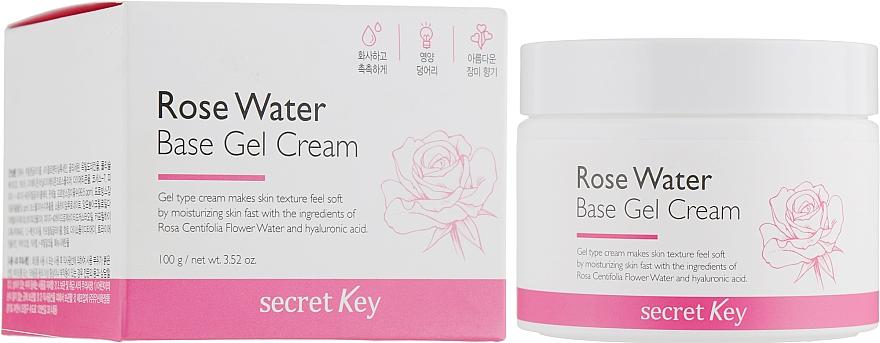 Cremă-gel pe bază de apă de trandafir - Secret Key Rose Water Base Gel Cream