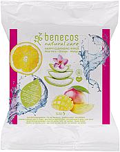 Parfumuri și produse cosmetice Șervețele umede de curățare - Benecos Natural Care Happy Cleansing Wipes