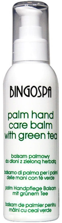 Balsam pentru mâini cu ceai verde - BingoSpa — Imagine N1