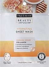 Parfumuri și produse cosmetice Masca folie de față - Freeman Beauty Infusion Hydrating Cream Mask Manuka Honey + Collagen