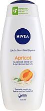"""Gel de duș """"Caise"""" - Nivea Bath Care Shower Care&Apricot Seed Oil — Imagine N1"""