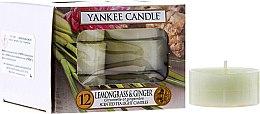 Lumânări pastile - Yankee Candle Scented Tea Light Candles Lemongrass & Ginger — Imagine N1