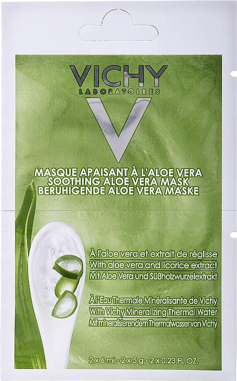 Mască regenerantă cu aloe vera - Vichy Mineral Masks Soothing Aloe Vera Mask — Imagine N1