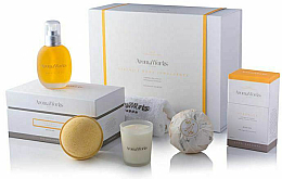 Parfumuri și produse cosmetice Set - AromaWorks Serenity Body Indulgence Gift Set (bath/bomb/2x250g + candle/75g + b/oil/100ml + flannel)