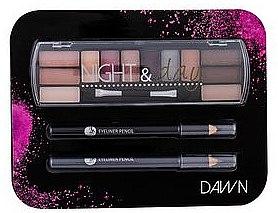 Set - Cosmetic 2K Night & Day Dawn (eye/sh/8,16g + eye/pen/2x0,6g) — Imagine N1
