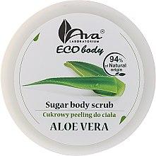 "Parfumuri și produse cosmetice Scrub pentru corp ""Aloe Vera"" - Ava Laboratorium Eco Body Natural Sugar Scrub Aloe Vera"