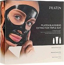 Parfumuri și produse cosmetice Set - Pilaten (mask/60g + toner/30ml + lot/30ml)