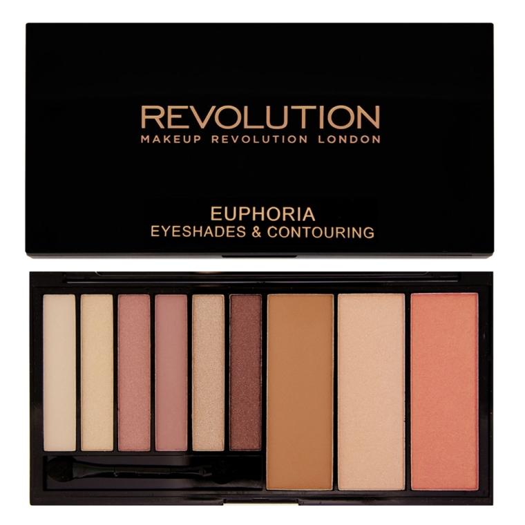 Paletă farduri și mijloace de contur - Makeup Revolution Euphoria Palette — Imagine N1