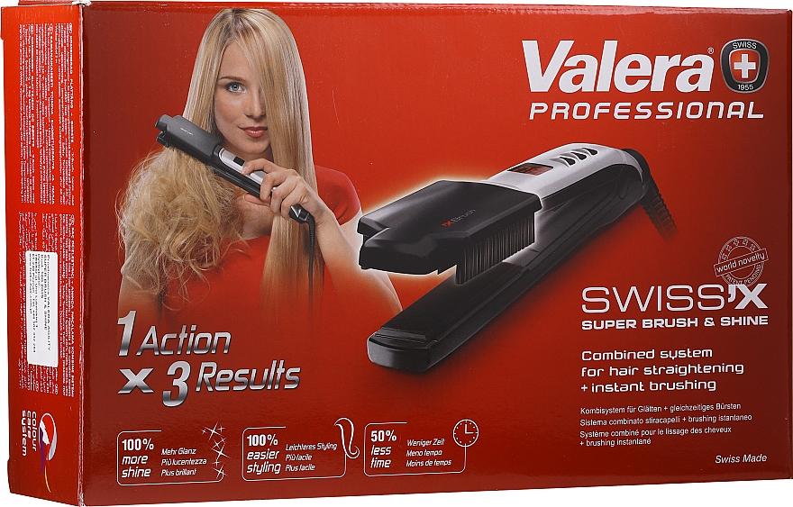 Placă de păr - Valera Swiss'x Super Brush & Shine — Imagine N1