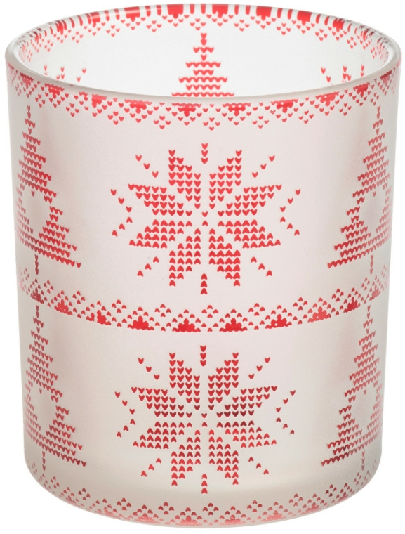 Suport pentru lumânare - Yankee Candle Red Nordic Frosted — Imagine N1