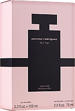 Parfumuri și produse cosmetice Narciso Rodriguez For Her - Set (edt/100ml + body/cr/75ml)