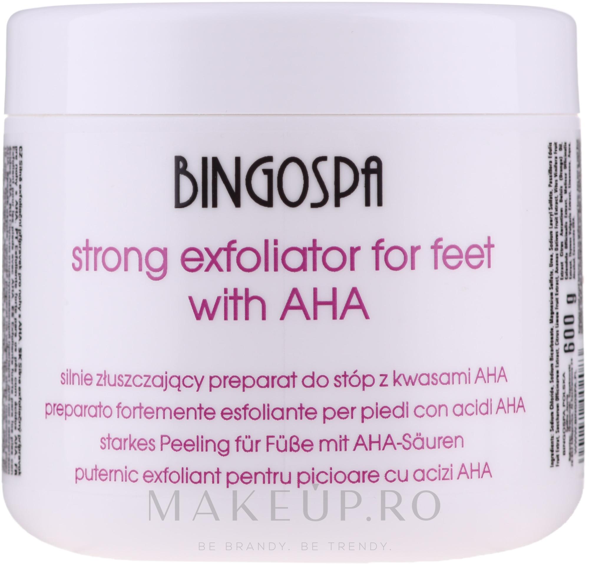 Exfoliant pentru picioare - BingoSpa Strong Exfoliant for Feet with AHA — Imagine 600 g