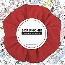 """Parfumuri și produse cosmetice Elastic de păr, tricotaj, roșu """"Knit Classic"""" - MakeUp Hair Accessories"""