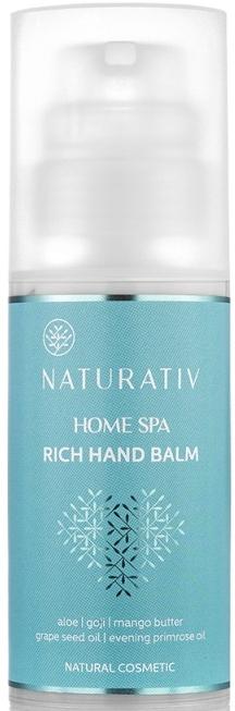 Balsam pentru mâini - Naturativ Rich Hand Balm Home Spa — Imagine N3